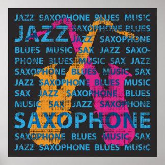 Saxophone de jazz poster