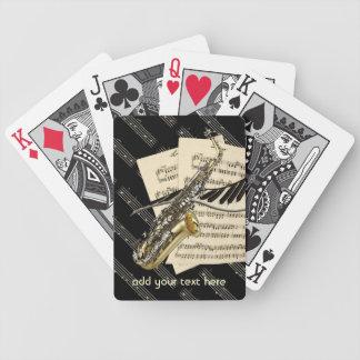 Saxophone et musique de piano personnalisée cartes de poker