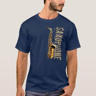 Saxophone grunge t-shirt