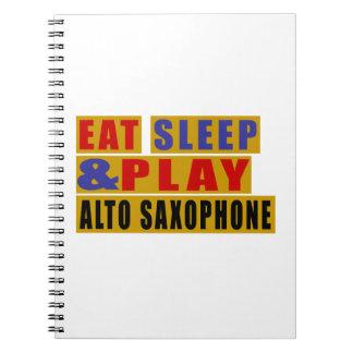 SAXOPHONE mangez de sommeil et de jeu ALTO Carnet À Spirale