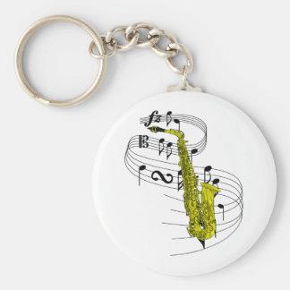Saxophone Porte-clé Rond