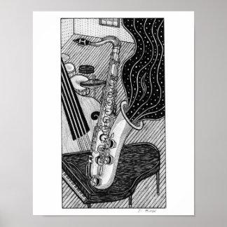 Saxophone Poster