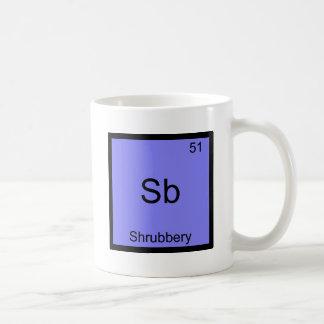 Sb - pièce en t drôle de symbole d'élément de mug blanc