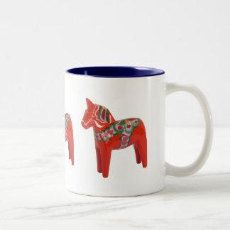 Scandinave de cheval de Dala de Suédois Tasse 2 Couleurs