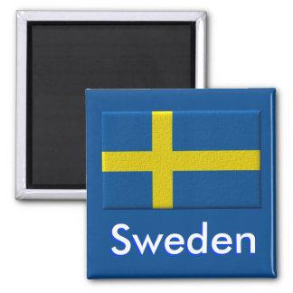 Scandinave suédois de drapeau magnet carré
