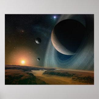 Scape de planète - copie d'art de l'espace posters