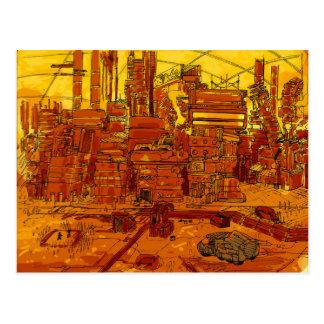 Scape futuriste de ville carte postale