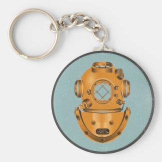 Scaphandrier vintage porte-clé rond