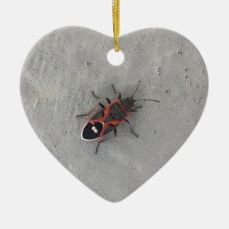Scarabée d'aîné de boîte ornement cœur en céramique