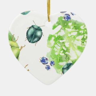 Scarabée de dispersion ornement cœur en céramique