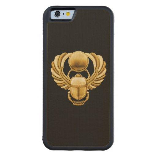 Scarabée d'Egyptien d'or Coque iPhone 6 Bumper En Érable