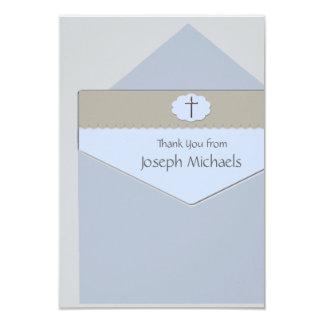 Scellé avec un carte de remerciements religieux de carton d'invitation 8,89 cm x 12,70 cm