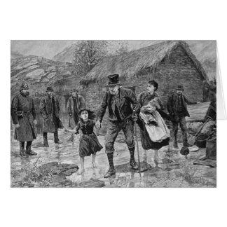 Scène à une expulsion irlandaise dans le comté carte de vœux