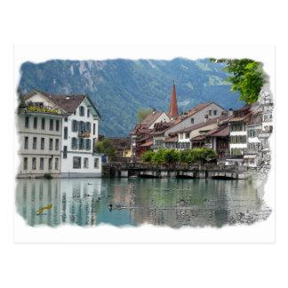 Scène alpine carte postale