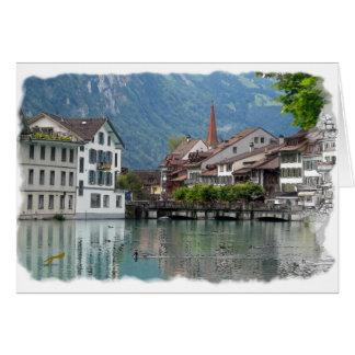 Scène alpine cartes