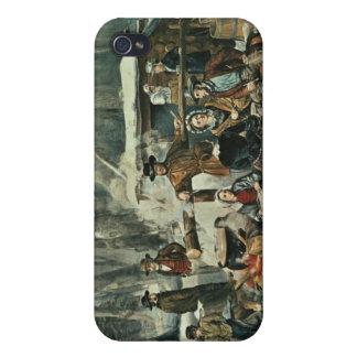 Scène américaine de forêt - érable sucrant, 1856 coques iPhone 4/4S
