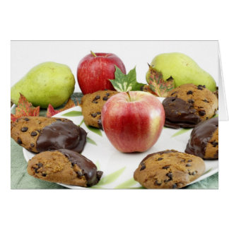 Scène d'automne de biscuits de citrouille carte de vœux