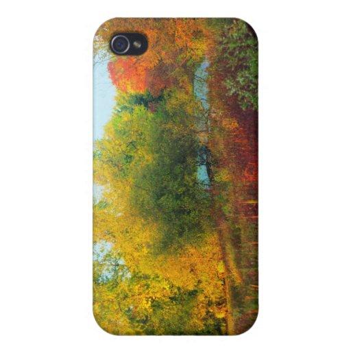 Scène de beauté d'automne coque iPhone 4 et 4S