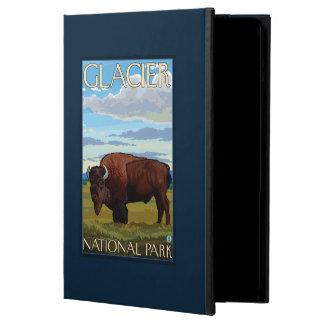 Scène de bison - parc national de glacier, la TA