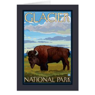 Scène de bison - parc national de glacier, la TA Carte De Vœux