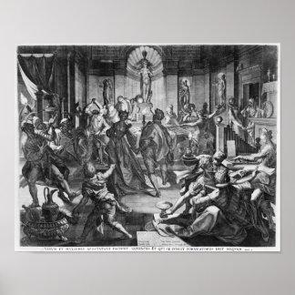 Scène de célébration, 1588 posters