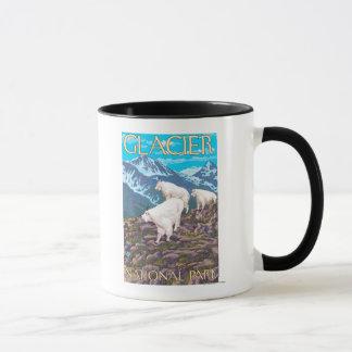 Scène de chèvres de montagne - parc national de mug