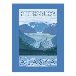 Scène de glacier - Pétersbourg, Alaska Carte Postale