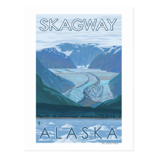 Scène de glacier - Skagway, Alaska Carte Postale