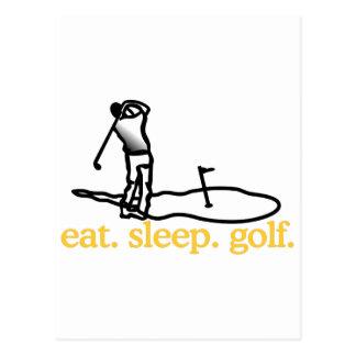 Scène de golf carte postale