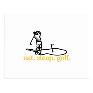 Scène de golf cartes postales