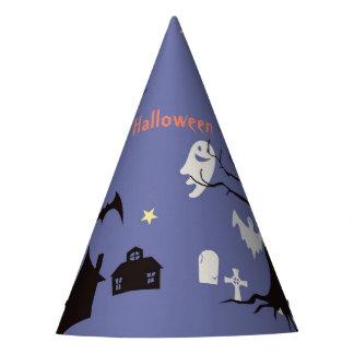 Scène de Halloween avec des sorcières et des Chapeaux De Fètes