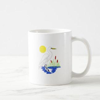 Scène de héron mug