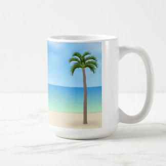 Scène de jour de plage : mug