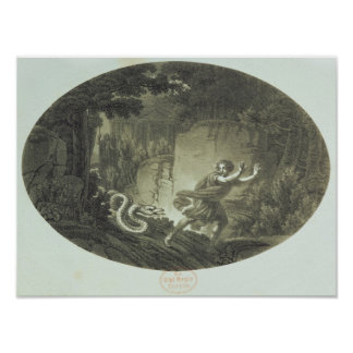 Scène de la cannelure magique par Mozart Posters