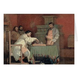 Scène de la vie du tsar russe carte de vœux