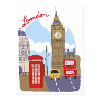 Scène de Londres Carte Postale
