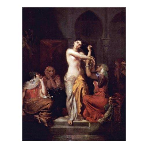 Scène de Madame maure In Bath de harem Prospectus