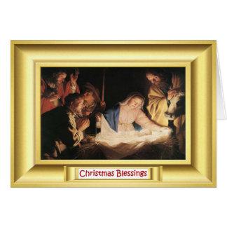Scène de nativité avec Mary Carte De Vœux