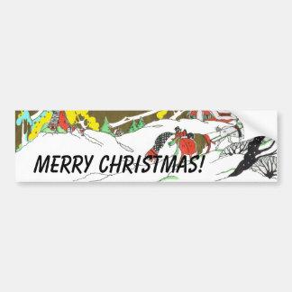 Scène de neige de Noël Adhésifs Pour Voiture