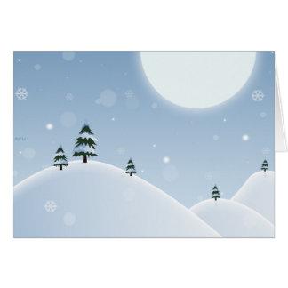 Scène de neige d'hiver carte de vœux