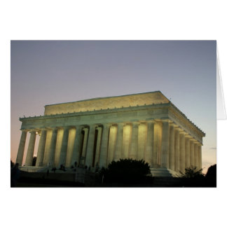 Scène de nuit de Lincoln Memeorial Cartes
