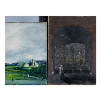 Scène de paysage et de rue carte postale