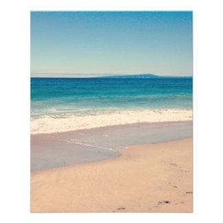 Scène de plage d'Aqua Prospectus 11,4 Cm X 14,2 Cm