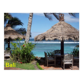 Scène de plage de Bali Carte Postale