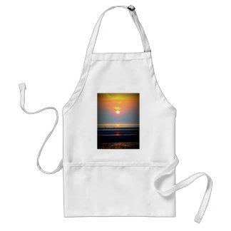 Scène de plage de coucher du soleil, Crosby, Liver Tabliers
