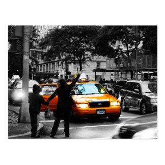 Scène de rue de New York City Carte Postale