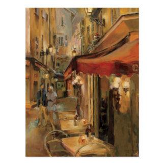 Scène de rue de Paris Carte Postale
