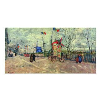 Scène de rue en Montmartre Le Moulin À Poivre par Photocarte