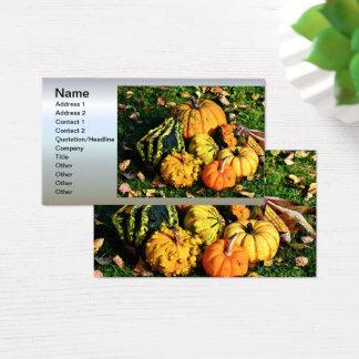 Scène de thanksgiving avec des cartes de visite