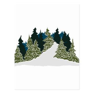 Scène de traînée d'hiver carte postale